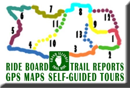 Grand Illinois Trail Ride, GPS Maps, Ride Board, Trail Reports, Self Guided Tours