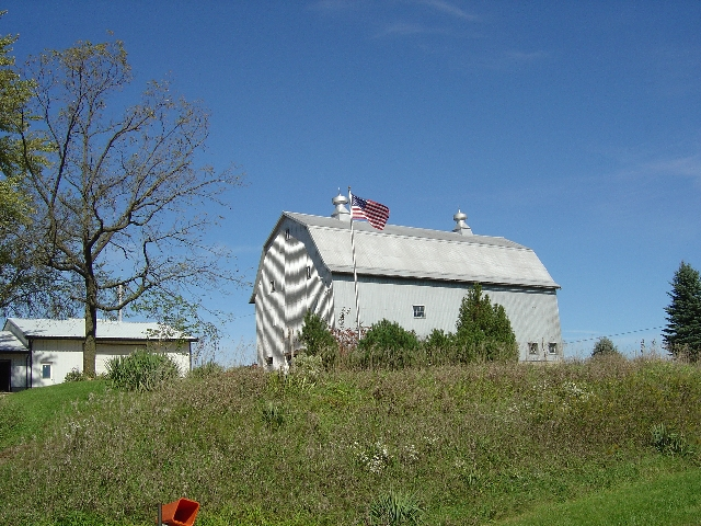 A farmhouse photo taken on the 7th section of the Grand Illinois Trail Ride (GITride)