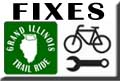 Grand Illinois Trail Ride Bike Shops, Bicycle Repair, Bicycle Emergency Aid
