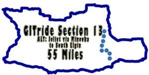 GITride Section 13 Joliet to S. Elgin 55 Miles
